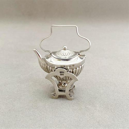 Charming Edwardian Miniature Spirit Kettle (1 of 5)