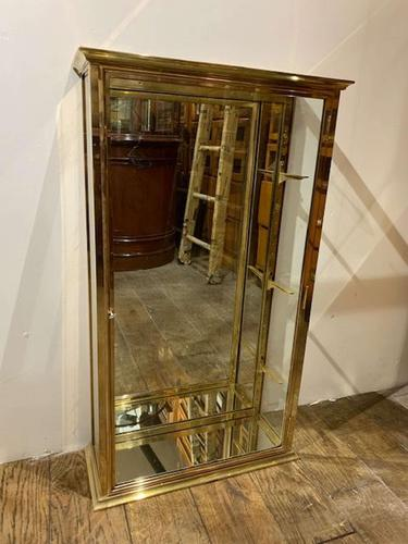 Pair of 1920s Brass Shop Display Cabinets (1 of 8)