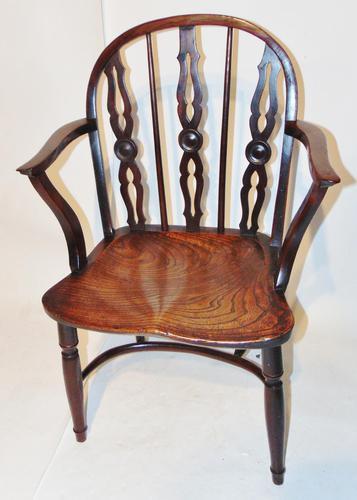 Georgian Yew-wood Windsor Elbow Chair (1 of 7)