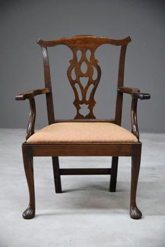 Georgian Oak Carver Chair (1 of 13)