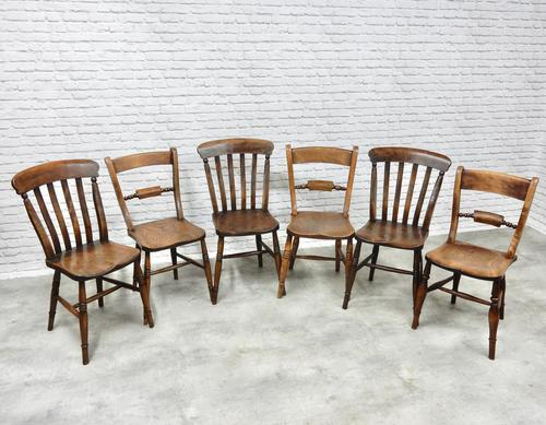 6 Windsor Kitchen Chairs, Assorted Styles (1 of 6)