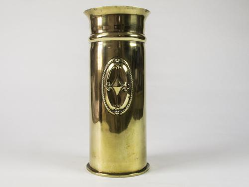 WW1 Trench Art German Shell Vase Dated 1917 (1 of 5)