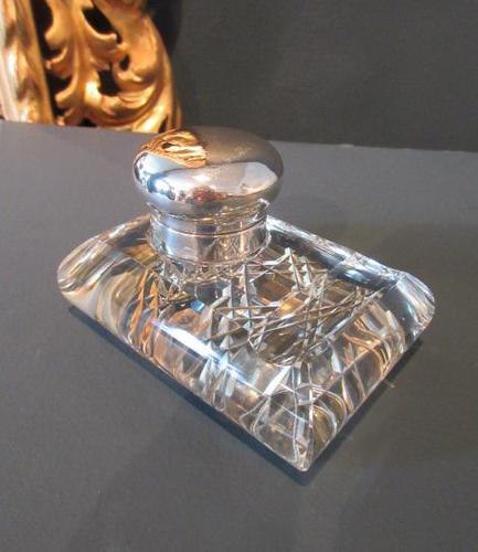 George V Period Solid Silver Pen & Inkstand (1 of 7)