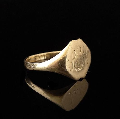 Antique 18ct Gold Signet Ring, Victorian (1 of 11)