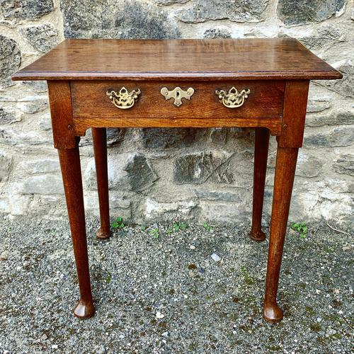 18th Century Georgian Oak Pad Foot Side Table (1 of 15)