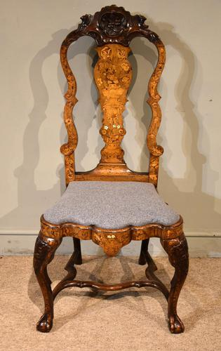 18th Century Dutch Marquetry Side Chair (1 of 9)