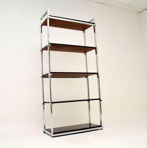 1970's Vintage Rosewood & Chrome Bookcase by Pieff (1 of 9)