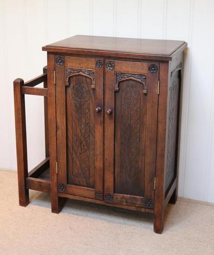 Edwardian Oak Hall Cabinet (1 of 10)