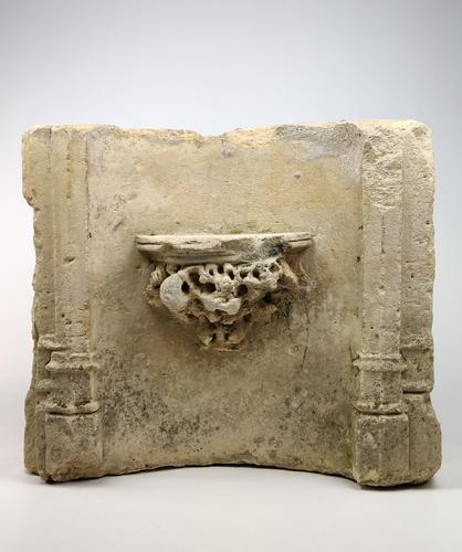 A Large Medieval Limestone Niche Fragment. (1 of 6)