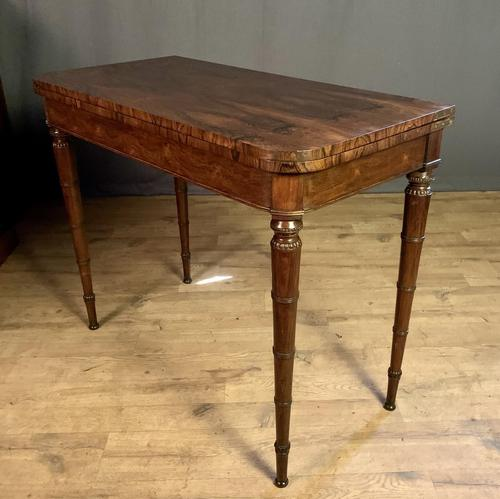 Superb French Rosewood Fold-over Top Card Table (1 of 14)