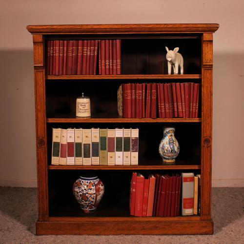 Open Bookcase in Light Oak 19th Century - England (1 of 11)
