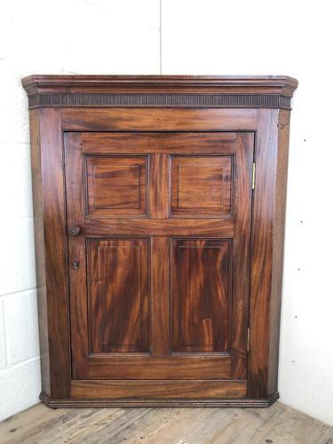 Antique 19th Century Mahogany Wall Hanging Corner Cupboard (M-1696) (1 of 11)