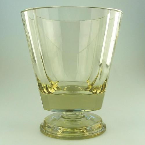 Fine Quality Scandinavian Art Deco Very Heavy Goblet Vase by Eda Citrine c.1931 (1 of 6)