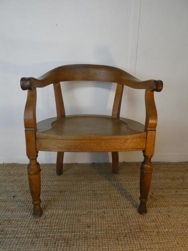 19th Century Oak Desk Chair (1 of 10)