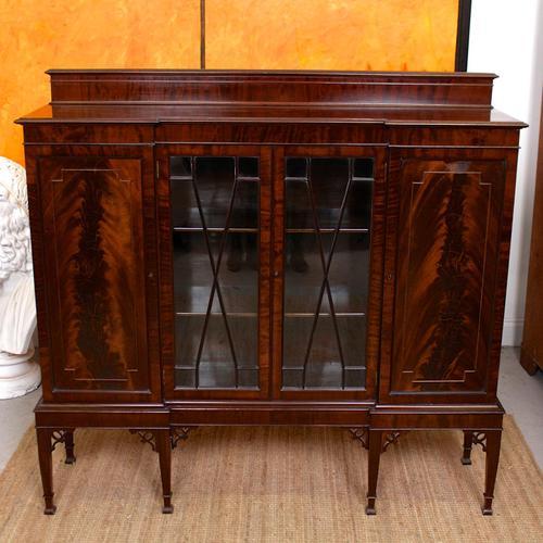 Edwardian Bookcase Inlaid Mahogany Glazed (1 of 7)