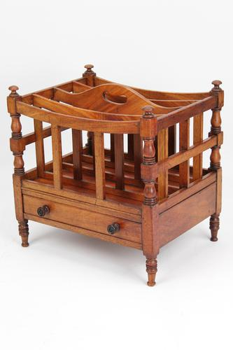 Small George III Mahogany Canterbury with Drawer (1 of 13)