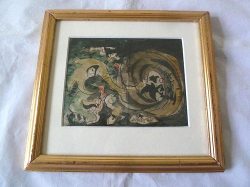 Fine Mid Century Abstract Painting - By Famous Australian Artist (1 of 4)