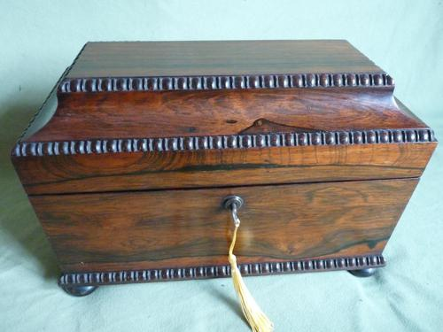 Rosewood Twin Canisters + Bowl Tea Caddy c.1840 (1 of 16)