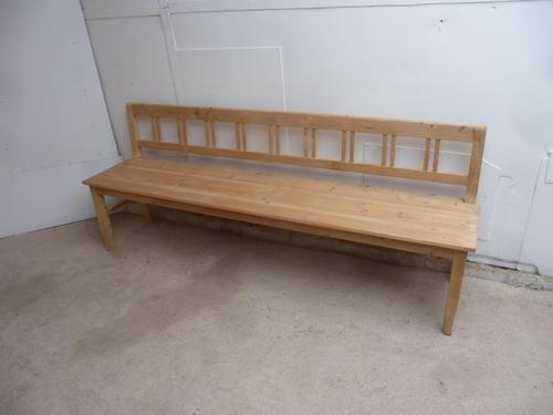 3/4 Seater Victorian Antique  Pine Hall / Kitchen Bench to wax / paint (1 of 9)