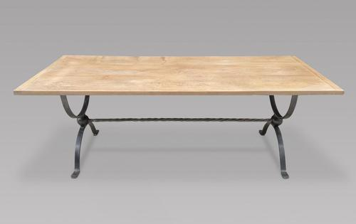 Oak 1950's Bleached Waxed Table (1 of 3)