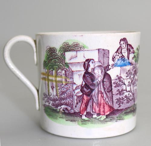 Staffordshire Pottery Child's Transferware Nursery Mug Mid 19th Century (1 of 5)