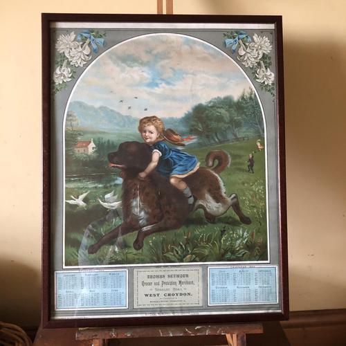 Victorian Grocer Advertising Calendar 1889 - Croydon Interest (1 of 11)