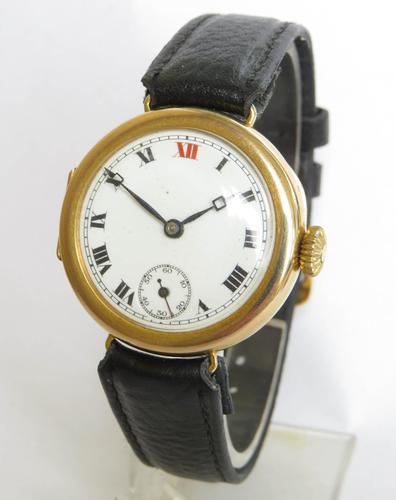 Antique 9ct Gold Wrist Watch, 1924 (1 of 5)