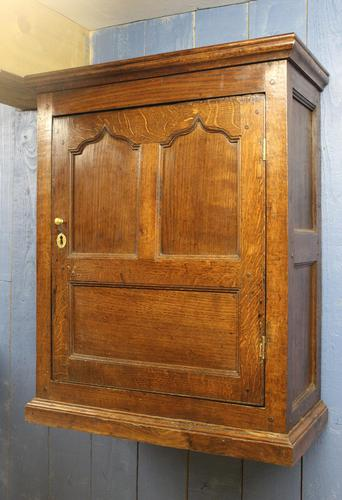 18th Century Oak Hanging Mural Cupboard. North Wales c.1760 (1 of 9)