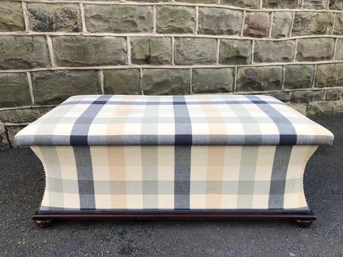 Mahogany Upholstered Sarcophagus Blanket Box (1 of 8)