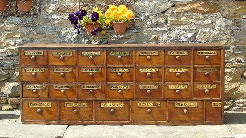 Charming Set of Antique Apothecary Drawers (1 of 10)