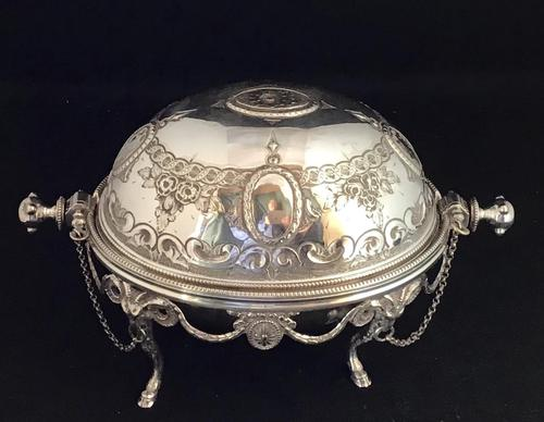 Victorian Silver Plate Breakfast / Caviar Dish (1 of 6)