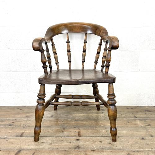 Antique 19th Century Smoker's Bow Chair (1 of 9)
