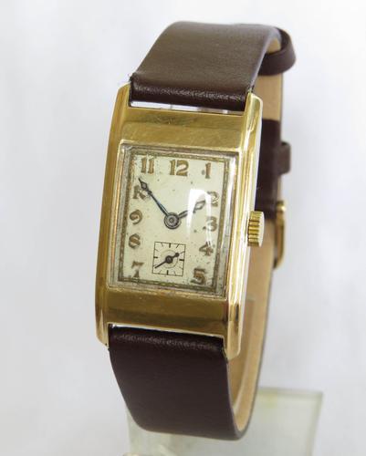 Art Deco 9ct gold Rotary Maximus Wrist Watch, 1933 (1 of 5)