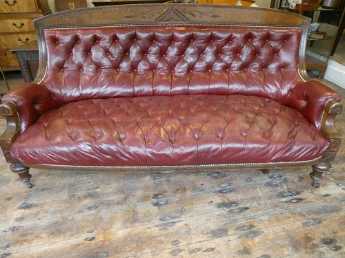 19th Century Aesthetic Leather Sofa (1 of 11)