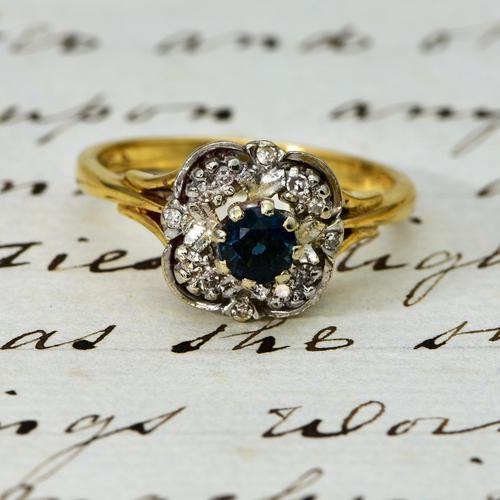 The Vintage Art Deco Style Sapphire & Diamond Ring (1 of 4)