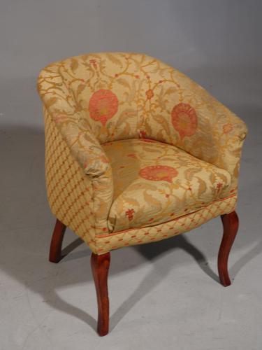 Edwardian Cabriole Legged Chair of Club Form (1 of 5)