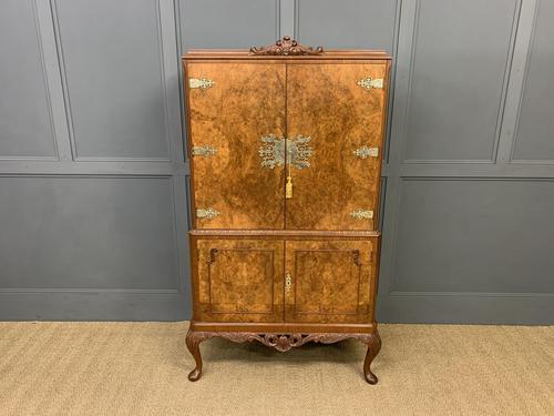 Burr Walnut Cocktail Cabinet (1 of 15)