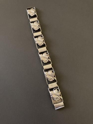 Danish Silver Bracelet - 1940s by C.Brumberg Hansen (1 of 5)