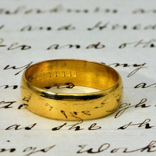 The Vintage 1965 22ct Gold Wedding Ring (1 of 1)
