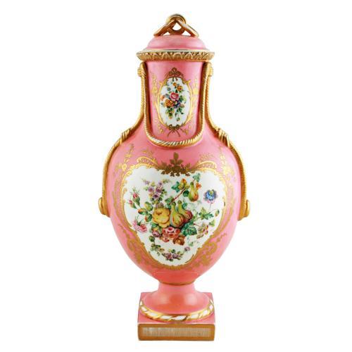 Victorian Coalport Porcelain Vase & Cover (1 of 8)
