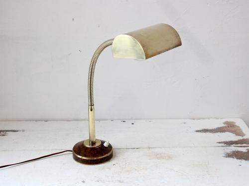 Mid Century Brass Banker's Lamp (1 of 8)