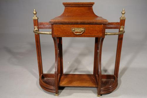 Good Early 20th Century Oak Hall Stick Stand (1 of 5)