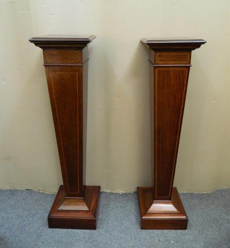 Pair of Mahogany Columns / Pedestals (1 of 6)