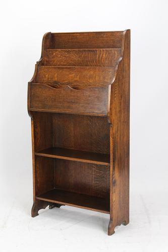 Edwardian Oak Display Stand / Open Bookcase (1 of 13)