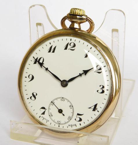 1930s Unitas stem winding pocket watch (1 of 4)