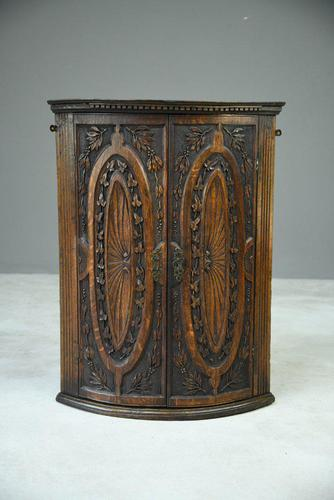 Georgian Oak Corner Cupboard (1 of 8)