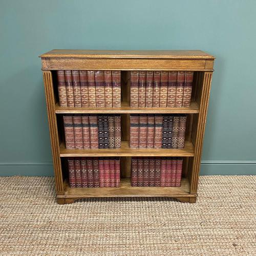 Quality Edwardian Oak Antique Open Bookcase (1 of 5)