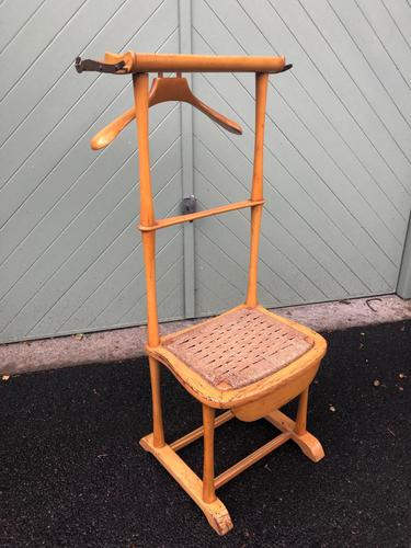Unusual Beech Chair Valet Clothes Stand (1 of 7)