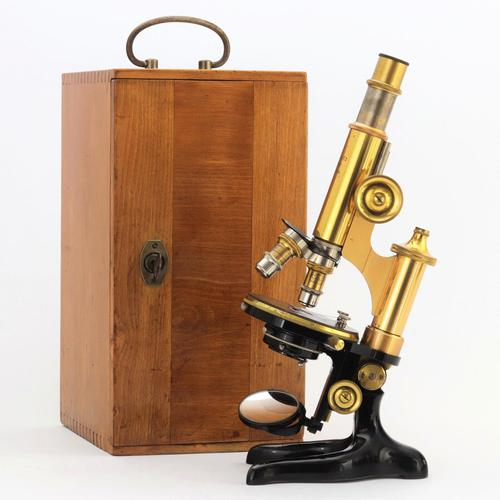 Antique Monocular Microscope by Ernst Leitz Wetzlar Retailed by Ogilvy & Co London c.1925 (1 of 15)