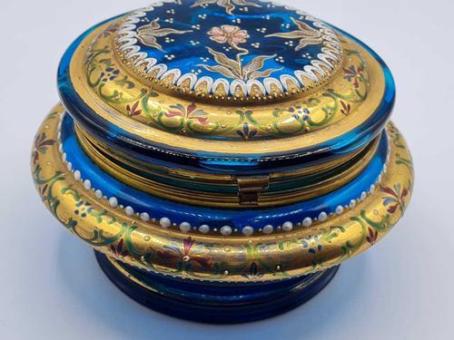 Antique 19th Century Moser Glass Enamel Box (1 of 11)